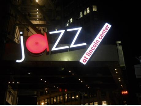 Illuminated sign, Jazz at the Lincoln Center