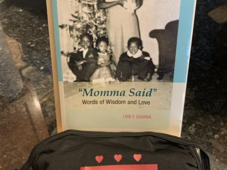"postor or Card with the words, ""Momma Said Words of Wisdom and Love"""